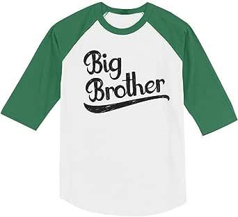 Regalo para Big Brother Siblings - Camiseta de béisbol de manga 3/4