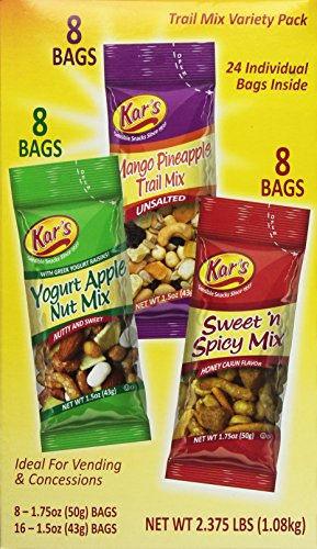 Kar's Trail Mix Variety Pack 24 Bags 2.375lb