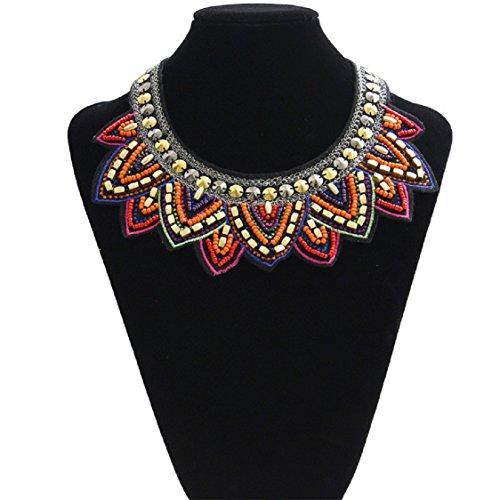 Ikevan Hot Selling Tribal Jewelry Handmade Spiky Geometric Triangle Charm Bib Choker Necklace New
