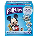 Huggies Pull-Ups Training Pants with Cool and Learn for Boys, Size 4T-5T, 56 Count