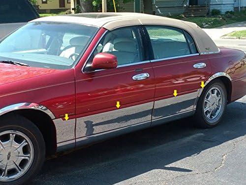 PP38681 QAA FITS Town CAR 1998-2011 Lincoln 6 Pc: Stainless Steel Pillar Post Trim Kit, 4-Door