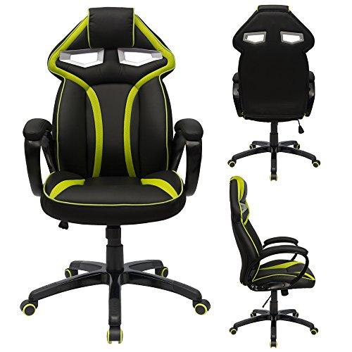 mesh office chair computer swivel lumbar support chair green furmax