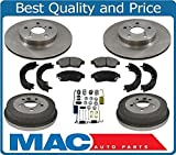 1996 toyota rav 4 brake parts - Mac Auto Parts 21230 96-00 Rav4 Rav 4 (2) Front Rotors Pads & (2) Drums Brakes Shoes Springs