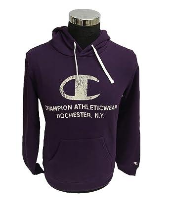 Champion - Sweat-Shirt à Capuche - Homme Violet Aubergine - Violet - Small 828ff11efb4e