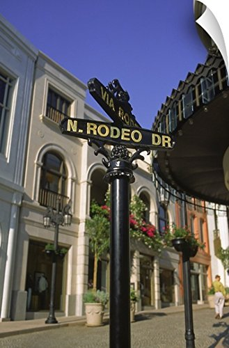 Canvas On Demand Wall Peel Wall Art Print entitled Rodeo Drive sign, Los Angeles, CA - Angeles Drive Rodeo Shopping Los