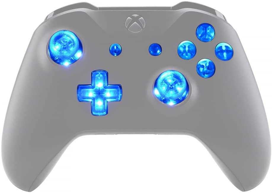 D-Pad Thumbs /& Guide Custom Buttons Xbox 360 Silver Replacement ABXY UK Company Hand Made from Genuine Bullets for Xbox 360 Controller