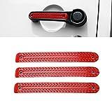 Car Door Grab Handles Inserts Cover Decorative Trim for Jeep Wrangler 2007-2017 (2 Door-Red)