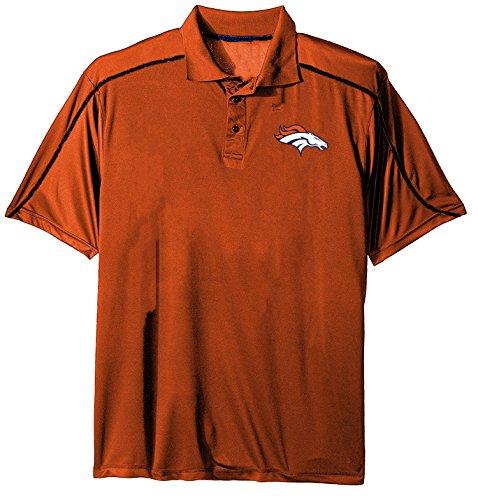 dult men NFL Plus S/Synthetic Polo,3X,Orange (Denver Broncos Polo)