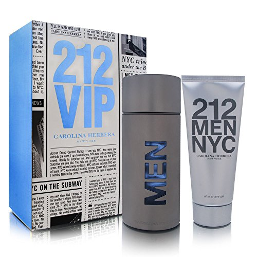 Carolina Herrera 212 For Men 2 Piece Set 3.4 Ounce Eau De Toilette Spray 3.4 Ounce After Shave Gel , Combo 1
