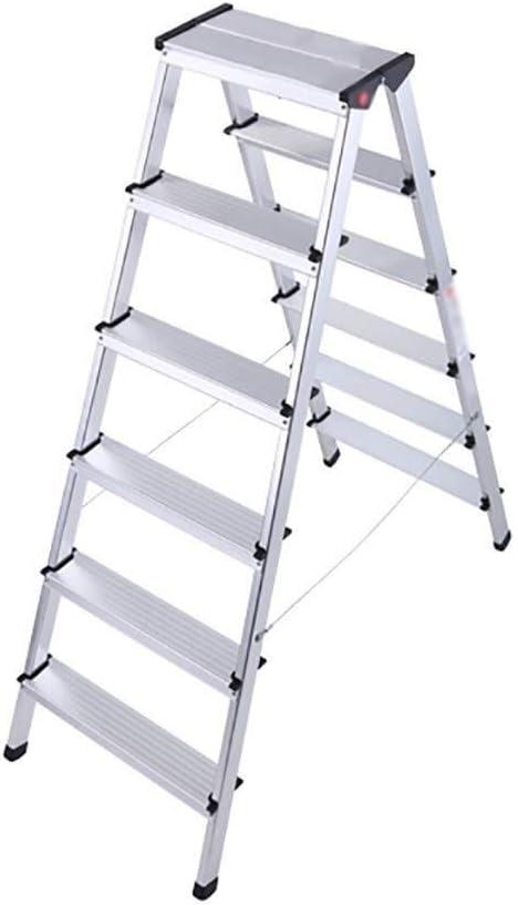 Zfggd Escalera Plegable, Aluminio Grueso heces 6 Escalera Plegable ...