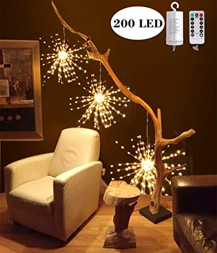 Hezbjiti 8 Modes 200LED Starburst Firework Copper Wire