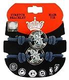 MLB Seattle Mariners Stretch Bracelet & Hair Tie, 2-Pack