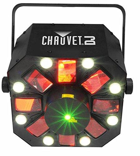 (CHAUVET DJ Swarm 5FX 3-in-1 LED Strobe, Laser, Derby Effect Light | Laser & Strobe)