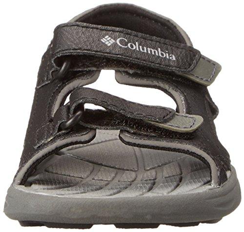 Columbia Techsun Vent, Sandalias Atléticas para Niños-Niñas Negro (Black, Columbia Grey 010)