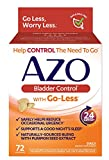 AZO Bladder Control® with Go-Less® Daily Supplement | Helps Reduce Occasional Urgency* | Helps reduce occasional leakage due to laughing, sneezing and exercise††† | 72 Capsules