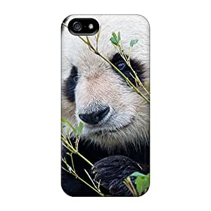 Rugged Skin Case Cover For Iphone 5/5s- Eco-friendly Packaging(panda)