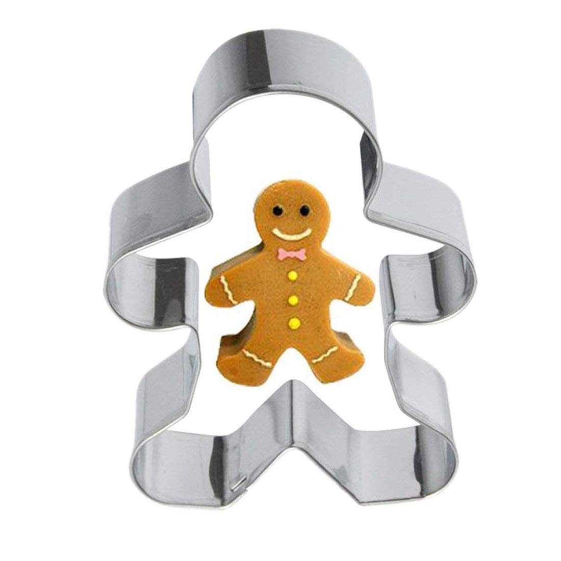 Aluminium Alloy Gingerbread Men Shaped Holiday Baking Biscuit Christmas Cookie Cutter Tools Decorating Tools Basico