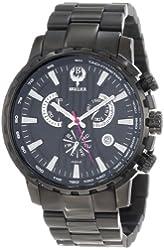 Brillier Men's 16-07 Endurer Black IP Chronograph Swiss Quartz Watch