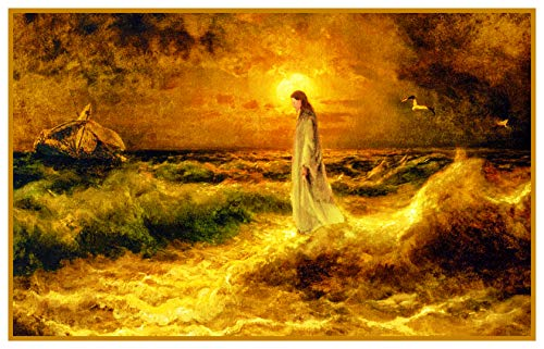 Von Klever Jesus Christ Walking Water Detail Counted Cross Stitch Pattern ()