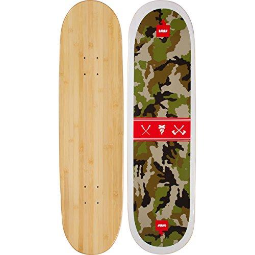Bamboo Skateboards Sutsu Hard Good Camo Short Board, Natural, 8.25