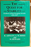 The Quest for Stability 9780199205035