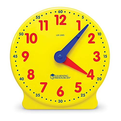 Learning Resources Big Time Student Clock, 12 Hour (Old Gears Clock)