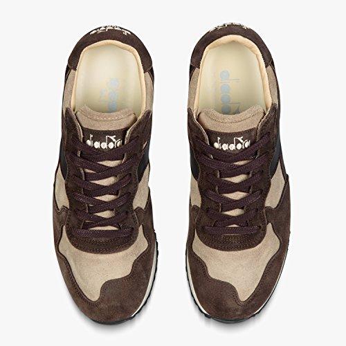 Diadora Heritage trident S SW di colore beige e marrone scarpe sportive uomo in pelle scamosciata sneakers, 40