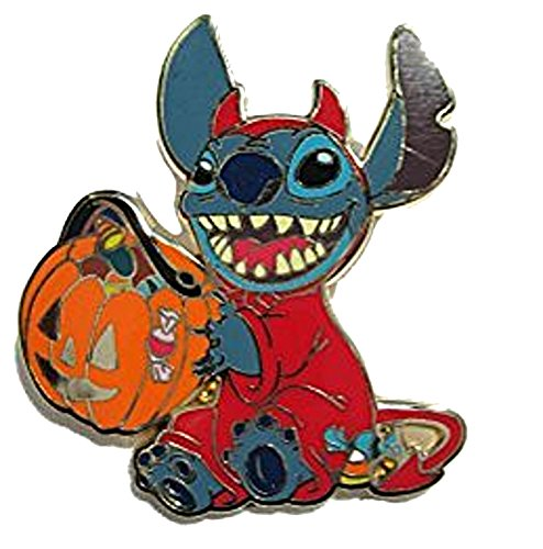 Walt Disney Halloween Costumes (Disney Stitch in Trick or Treat Halloween Devil Costume with Pumpkin Pin by Disney)