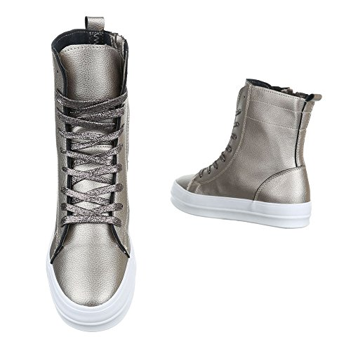 Ital-Design - Zapatillas de Material Sintético para mujer marrón