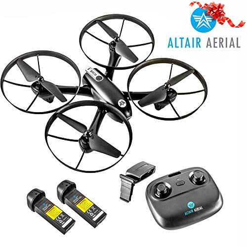 ($30 Off Now!) Altair Falcon AHP - Drone with Camera for Beginners, Live Video 720p, 2 Batteries & Autonomous Hover & Positioning System Easy to Fly, FPV, Custom Routes, Lincoln, NE Company.