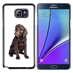 YiPhone /// Prima de resorte delgada de la cubierta del caso de Shell Armor - Chocolate Labrador Retriever Puppy Dog - Samsung Galaxy Note 5 5th N9200