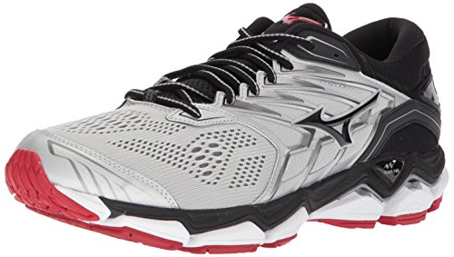 Mizuno Men's Wave Horizon 2 Running Shoe, Silver/Black, 11 D US (Mens Mesh Mizuno)