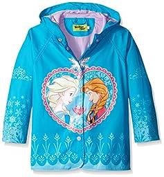 Western Chief Kids Girls\' Waterproof Rain Coat, Frozen , 5
