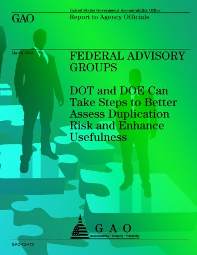 Federal Advisory Groups: DOT and DOE Can Take Steps to Better Assess Duplication Risk and Enhance Usefulness PDF