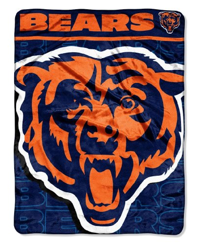NFL Chicago Bears Micro Raschel Throw Blanket, 46 x 60-Inch