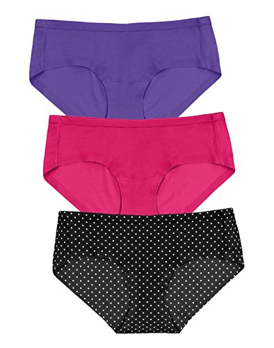 Maidenform Womens Comfort Devotion Sweet Nothings 3-Pack Hipsters, L