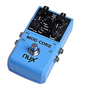 nux mod core guitar effect pedal 8 modulation effects preset tone lock musical. Black Bedroom Furniture Sets. Home Design Ideas