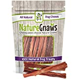 Nature Gnaws Beef Bladder Sticks 5-6 inch (15 Count) - 100% Natural Beef Dog Chew Treats