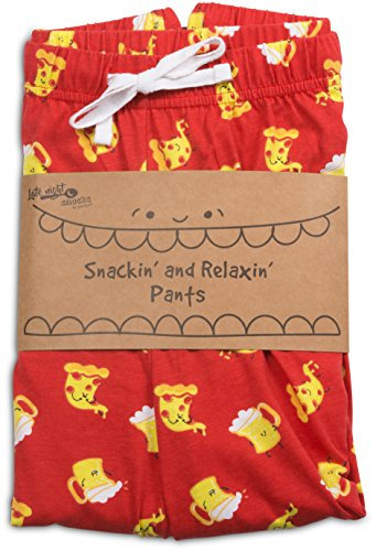 Late Night Snacks Pizza and Beer Unisex Pajama Pants With Pockets - Large by Late Night Snacks (Image #3)