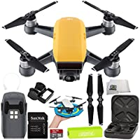 DJI Spark Portable Mini Drone Quadcopter Starter Palm Landing Pad Bundle (Sunrise Yellow)