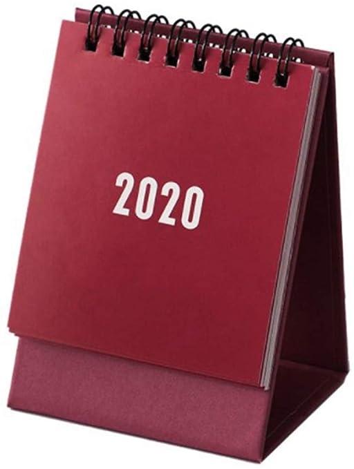 Aixingwuzi Profesional 2020 Escritorio Papel Calendario Mini Mesa ...