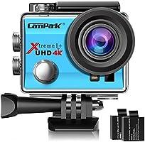 Campark Sports Action Camera 4K 16MP 30M Underwater Waterproof Camcorder WiFi 2 Batteries
