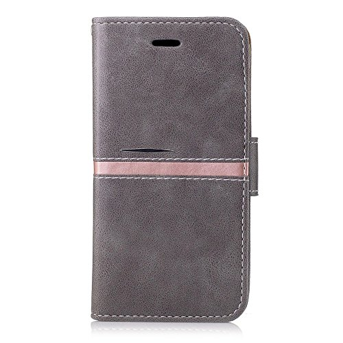 SRY Funda protectora de la carpeta del tirón del cuero de la PU con el cierre magnético y la ranura del soporte / de la tarjeta para Samsung Galaxy A3 2017 ( Color : Gray ) Gray