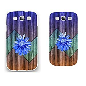Chic Stylish Chevron Wood-printed Pattern Hard Plastic Skin Case Cover Fit for Samsung Galaxy S3 I9300 (white)
