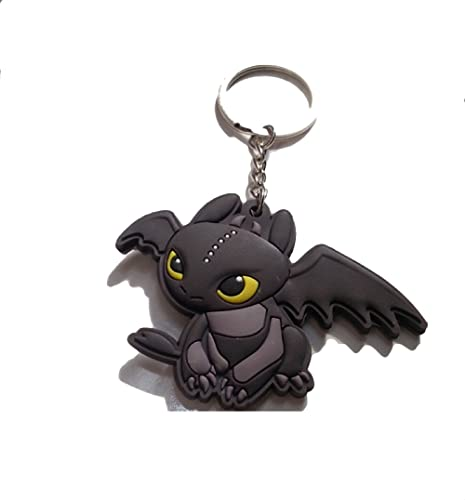 How To Train Your Dragon Toothless Night Fury Keyring PVC Charm Keychain
