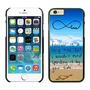 Customized Pop infinity anchor with love and sandy beach design S iPhone 6 Plus Case Black