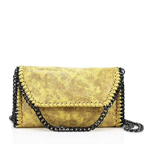 Faux Handbags Body Party Chain For Women's Yellow Bags Women Bags CW932 Body Cross Leather LeahWard Trim Cross TI7n0