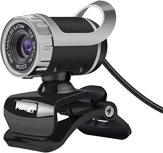 Docooler HXSJ LG-68 Cámara Web de Escritorio Cámara Web USB Micrófono Absorbente de Sonido Videollamada para PC Portátil (Negro + Plata/Negro + Rojo): Amazon.es: Electrónica