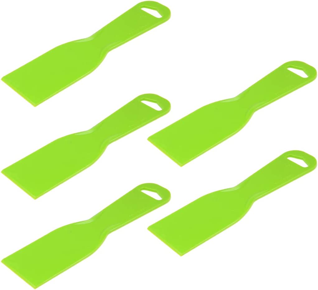 uxcell Putty Taping Drywall Scraper 2 Flexible Plastic Blade Disposable Spreader for Wall Painting 5pcs