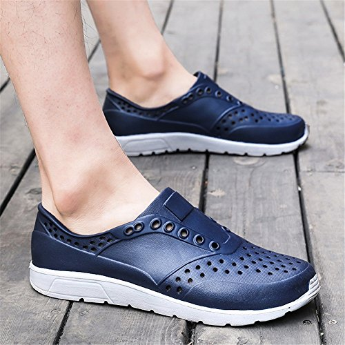 Beach Shoes Breathable Red Blue Casual Sandals 42 Blue Large Shoes HUAN Men's Black Shoes Lightweight New White Size Size Hollow Out Summer Color Twzw8vOq